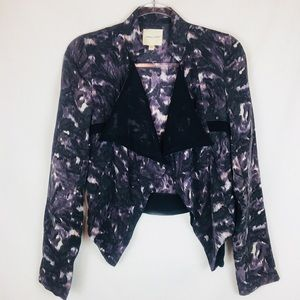 Urban Outfitters | 100% Silk Drape Front Jacket S